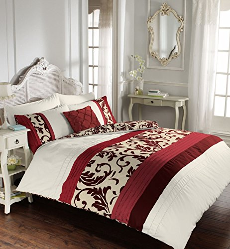 Scroll Luxury Duvet Cover Quilt Cover with Pillowcase – Single Double King Super King