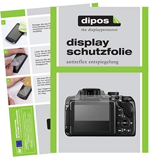dipos I 6X Schutzfolie matt passend für Nikon Coolpix B600 Folie Displayschutzfolie