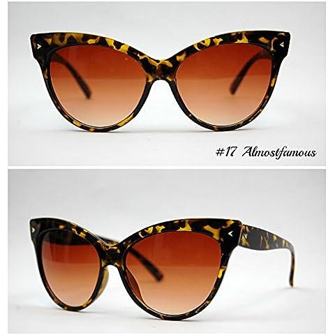 La Occhi di gatto Tartaruga VTG 50s/60s da donna, stile occhi di gatto occhiali da sole occhiali retrò Rockabilly Vintage Mondo Eye Wear