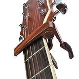 capotasto chitarra Capo Chitarra Perfetto per Chitarra Acustica, elettrica o chitarra, Ukulele, banjo, mandolino, basso, Palissandro
