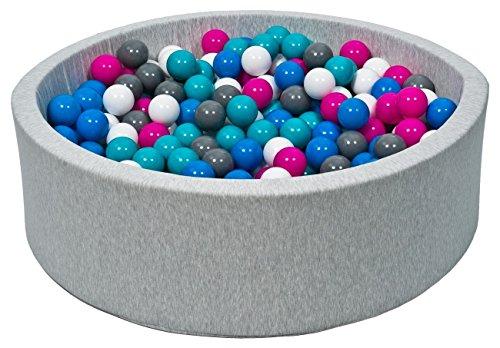 piscine a balles pour enfant aire de jeu 300 balles couleurs des balles blanc bleu rose. Black Bedroom Furniture Sets. Home Design Ideas