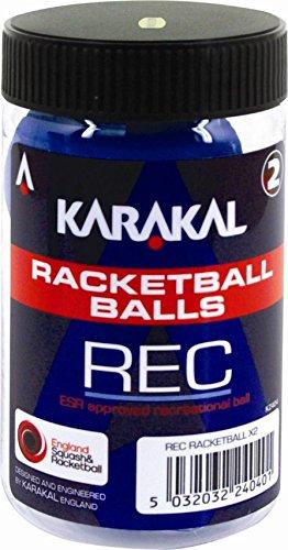 Karakal Bolas de Baloncesto Unisex (Recreational), Tubo de 2, Color Azul