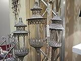 Stablaterne Gartenstablaterne rund 130 hoch Laterne Garten Deko antik