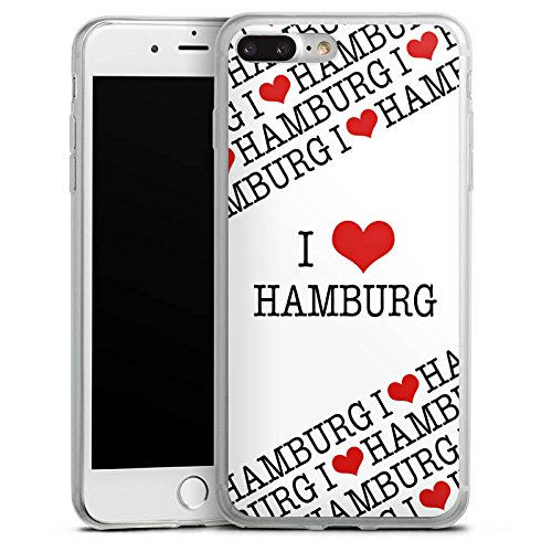 Apple iPhone X Slim Case Silikon Hülle Schutzhülle Hamburg Herz Love Silikon Slim Case transparent