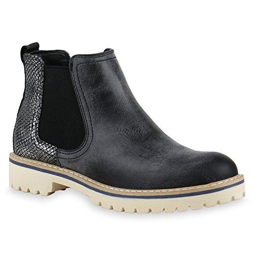 Mulheres Tornozelo Botina Botas Perfil Metálico Únicos Sapatos Pretos