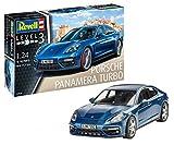 Revell 07034 - Modellbausatz Auto 1:24 - Porsche Panamera 2 im Maßstab 1:24, Level 3, Orginalgetreue Nachbildung mit Vielen Details -