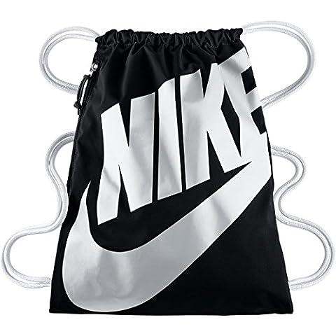 Nike Heritage–Bolsa de deporte multicolor negro/blanco Gymbag/Mochila