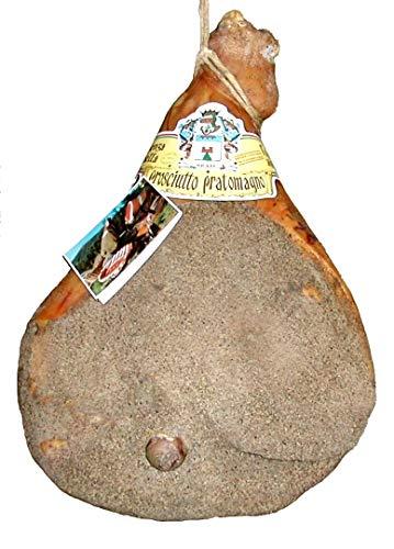 Prosciutto pratomagno extra kg. 7,4 - crudo, stagionato, 100% italiano, con osso