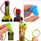 We Store1 Wine Cork Stopper Plug Bottle Cap Cover Anti-Lost Silicone Hanging Button