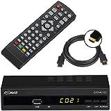 Comag DKR 40 Full HD DVB-C Kabelreceiver + HDMI Kabel (HDMI/SCART/USB), PVR Ready, Mediaplayer schwarz