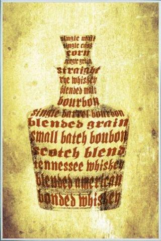 1art1 Whiskey Poster und Kunststoff-Rahmen - Whisky Sorten (91 x - Daniels Kunststoff-jack Flasche