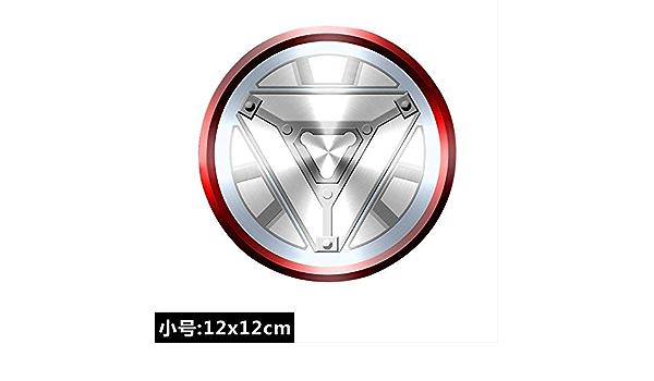 RUOXI Adesivi Avengers Alliance Hero 3D Logo Net Red Movie Car Sticker Sempon Bureau Iron Man///B Grande