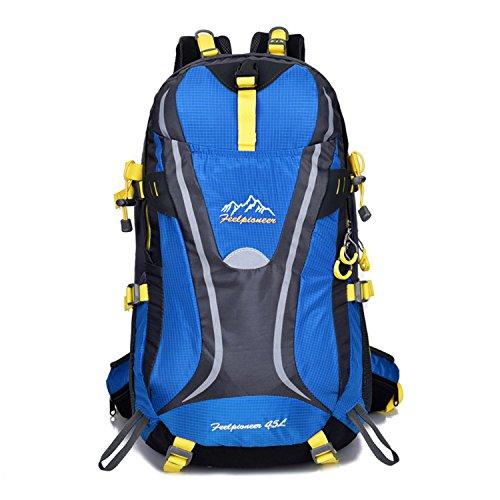 BYD - 45L Unisex Rucksäcke Im Freien Wandern Klettern Freizeit Trekkingrucksäcke Outdoor Taschen Radfahren Reiten Reisetaschen wasserdicht Backpack Dunkelblau