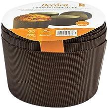 DECORA 0320162 Confezione Forme Canasta, Carta di Cellulosa, marrone, 500 g, 5 Pezzi