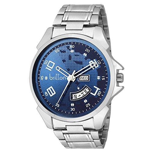 BRITTON Analogue Blue Dial Men\'s Watch - Br-Gr0184-Blu-Ch