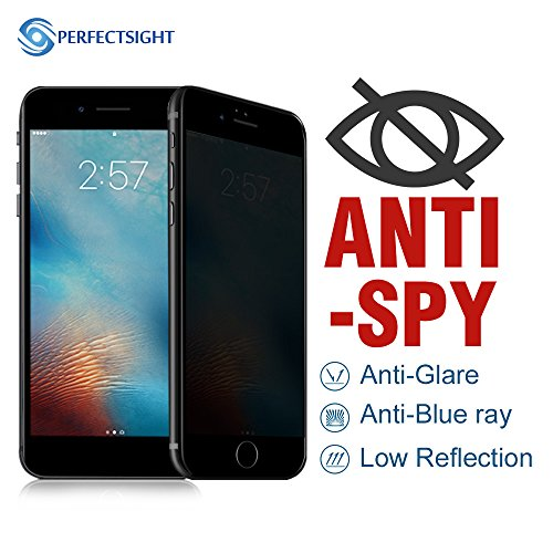 perfectsight [anti-glare] proteger anti Spy Privacidad antihuellas Protector de pantalla de cristal templado 9H para Apple iphone7/8 Plus (5,5 pulgadas)