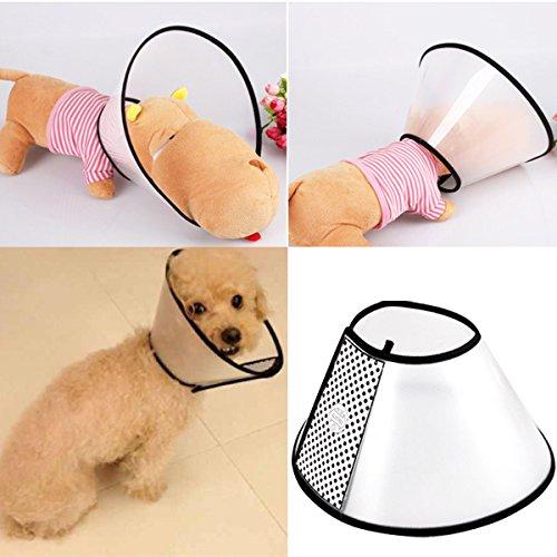 UEETEK Haustier Hund Katze Halskrause Geeignet für das Haustier Halsumfang 18~20cm