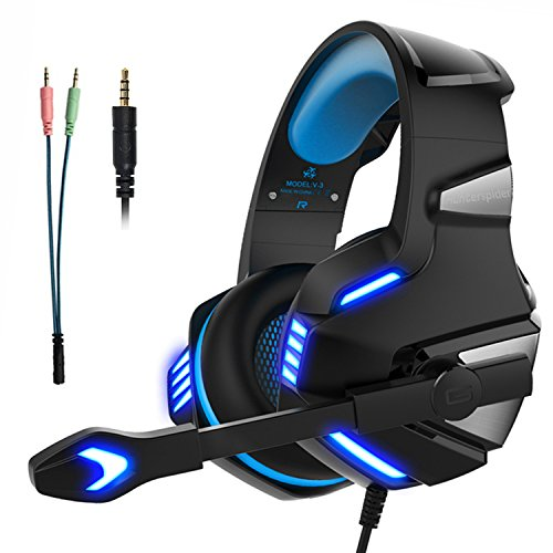 Cascos Gaming Auriculares Gaming Gamer para PS4 PC Xbox One con Micrófono...