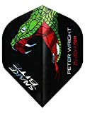 Red Dragon Peter Wright Snakebite 1 Soft-Tip – 18g – 90% Tungsten Steel Dartpfeile mit Hardcore Flights, Schäfte, Brieftasche & Red Dragon Checkout Card - 3