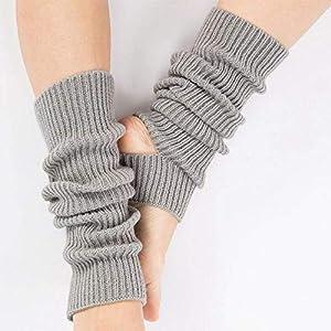 HATCHMATIC Berufsfrau Beinschutz Yoga Socken Lage Latin Dance Leg Sets Knit Ort Schutz Wolle Yoga: Hellgrau