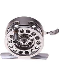 Carretes de pesca de bobina de metal redondo rodamientos de ruedas de aleación de aluminio de la mosca de la pesca