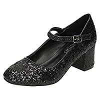 Spot On Girls Heeled Sparkly Dolly Shoes