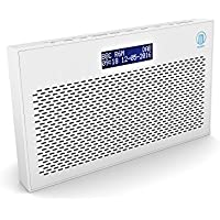Majority Histon II DAB/DAB+ Digital & FM Portable Radio, Dual Alarm Clock, Battery Portable or Mains Powered (White)
