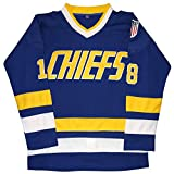 Micjersey Hanson Brothers Trikot Charlestown Chiefs 16,17,18 Slap Shot Eishockey Movie Jersey - Blau - XX-Large