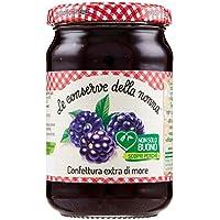 Le Conserve della Nonna Confettura Extra di More senza Pectina Aggiunta e con Zucchero di Canna - 340 g - [confezione da 12]