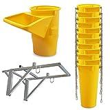 Profi Schuttrutsche Bauschuttrutsche Baurutsche 13 m, Set aus 12x Schuttrohr, Gestell und Einfülltrichter