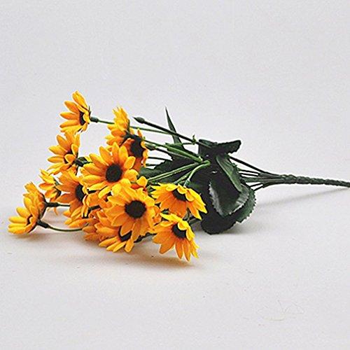 alkyoneus 1Bouquet 14Köpfe Fake Kleine Sonnenblume Künstliche Blume Home Hochzeit Decor