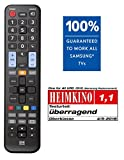 Image of One For All Samsung Tv Replacement Remote – Works With All Samsung Televisions ledlcdplasma – Ideal Tv Replacement Remote Control With Same Functions As The Original Samsung Remote Black – Urc1910