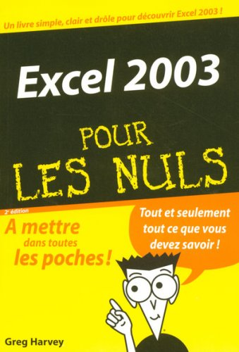 Excel 2003 par Greg Harvey