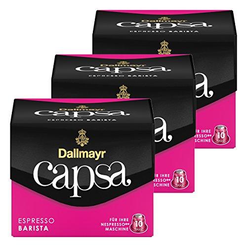 Dallmayr Capsa Espresso Barista, Nespresso Kompatibel Kapsel, Kaffeekapsel, Espressokapsel, Röstkaffee, Kaffee, 30 Kapseln