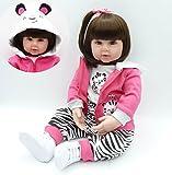 Pursue Baby Realistische Babypuppe mit langen Haaren, süße kleine Tiger, 24-Zoll-lebensechte Reborn-Puppe für Kinder