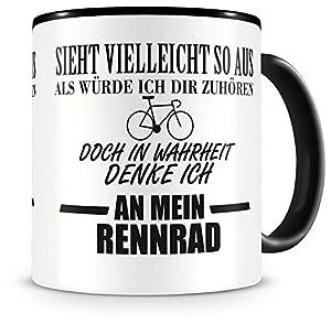 Samunshi® Ich denke an mein Rennrad Tasse Kaffeetasse Teetasse Kaffeepott...