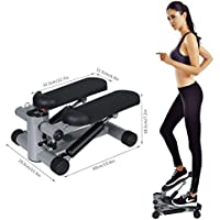 Preisvergleich für Stepper Fitness Cindere Swing Drehbar Sidestepper mit Integriertem Computer und Widerstand für Bauch und Beine Training