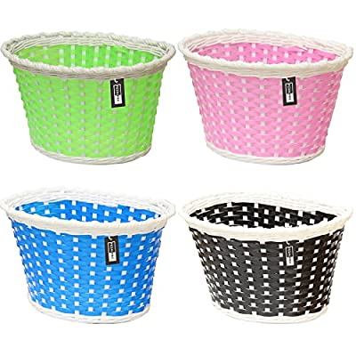 PedalPro Small Plastic Wicker Childrens Bicycle Basket - Available in 4 Colours