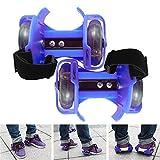 Wembley Toys Street Gliders Roller Skates, LED Light-up Wheels (2 Wheels) (Blue)
