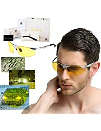 soxick HD Metall Night Driving Brille polarisierte Sport Sonnenbrille KJ9Ds15