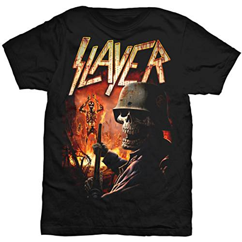 Slayer Herren Torch T-Shirt, Schwarz, L