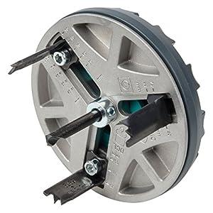 Wolfcraft 5977000 Sierra de corona ajustable, diámetro de 45-90 mm, Gris/argent/noir