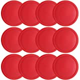 Easygame One Dozen Air hockey Pucks 31/4inch, grandi dimensioni rosso Puck for Full size Air hockey per teenager adulti tabelle