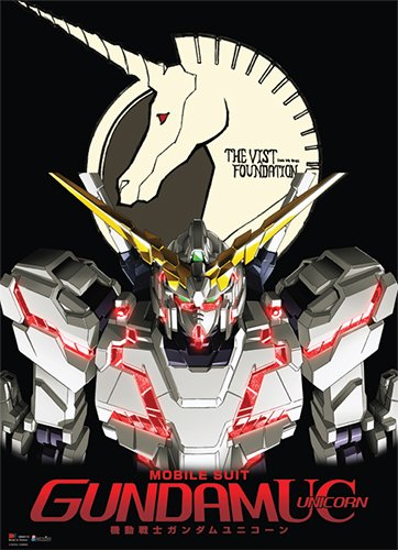 Great Eastern Entertainment Gundam UC rx-o Unicorn Gundam Wall Scroll, 33 von Blumenkasten
