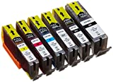 Peach Spar Pack mit grau Tintenpatronen XL-Ergiebigkeit, kompatibel zu Canon PGI-570XL, CLI-571XL