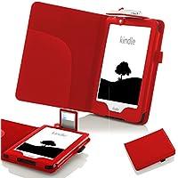 Forefront Cases® Nuevo E-reader Kindle, pantalla táctil antirreflejos de 6'' (15,2 cm) (July el año 2016 - 8ª Generación) Funda Carcasa Stand Case Cover Protectora Plegable de Cuero con la luz LED de Lectura