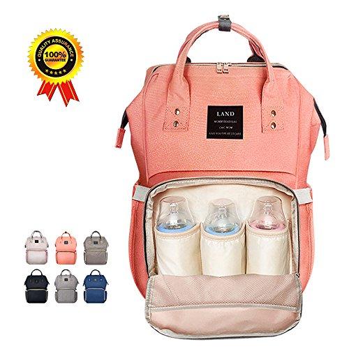 HEYI Baby Wickeltasche Reise Rucksack,Isolierte Tasche, Wasserdicht Stoffe, Multifunktional, Passform für Kinderwage, Große Kapazität Modern Einzigartig Tragbar Handtasche Organizer Test