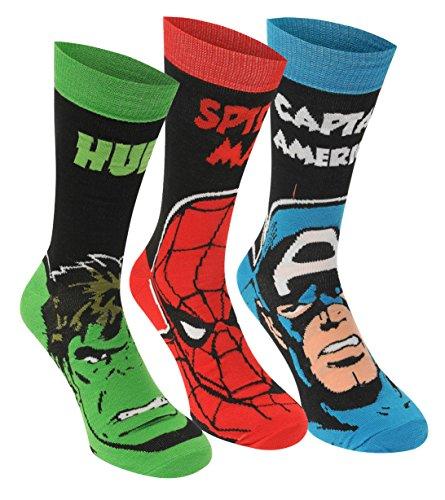Marvel Lizenz Herren Socken 3er Pack (Herren-socken Spiderman)