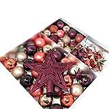 ToCi Christbaumschmuck Set Burgund | 45-teilig mit Christbaumkugeln Christbaumspitze Sternen Deko Perlenkette | Weihnachten Baumschmuck Anhänger | schöner Weihnachtsbaumschmuck mit Kugeln bruchsicher