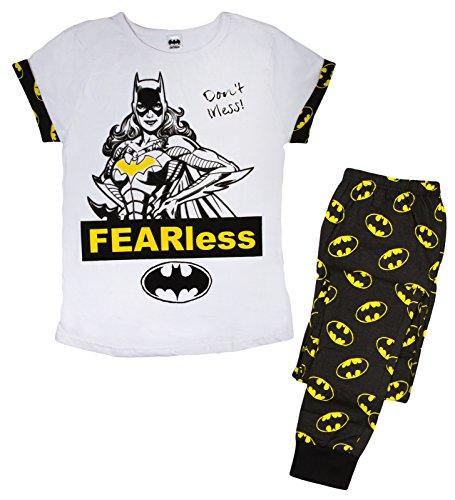 Damen Weiche Baumwolle voller Länge Pyjama Pyjama PJ 's Damen Xmas Geschenk Presents Größe UK 8–22, Weiß, LB0136 (Stop-fleece-hose)